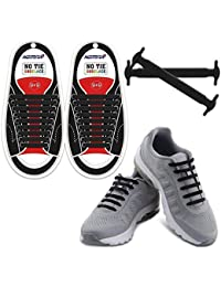 1eddacaca013 No Tie Shoelaces for Kids and Adults - Best in Sports Fan Shoelaces -  Waterproof Silicone
