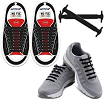 HOMAR No Tie Shoelaces for Kids and Adults - Best in Sports Fan Shoelaces - Waterproof Silicone Flat Elastic Athletic...
