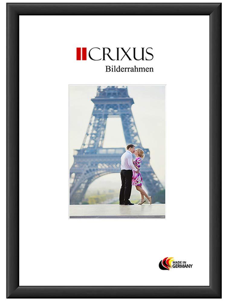 CRIXUS Crixus38M Bilderrahmen für 95 x 68 cm Bilder, Farbe  Schwarz-Matt, Holzrahmen MDF mit Acryl-Glas, Rahmen Breite  38mm, Aussenmaß  100,6 x 73,6 cm