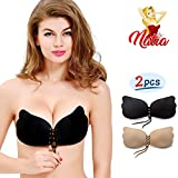 Strapless Backless Invisible Push-up Silicone Bra [New Version] by NATIA