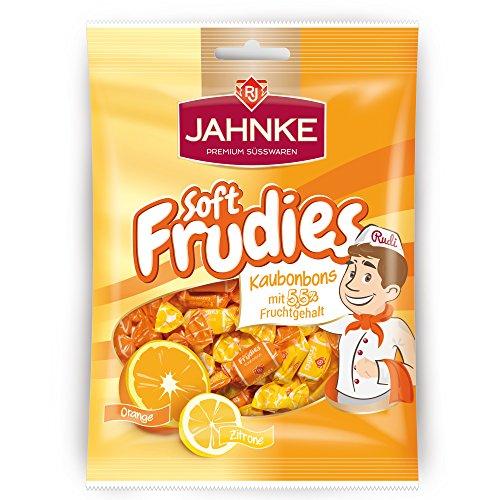 Soft Frudies Fruit Toffee Orange & Lemon Bag of 150g - 5.2 Oz (Orange Toffee)