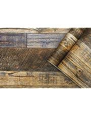 Vinyl tapet träkorn papper skarvning peel & stick tapet vintage brun grå trä strukturerad avtagbar självhäftande tapet skrivpapper hyllpapper för väggtatuering