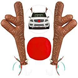 Christmas Reindeer Antlers & Nose for Cars