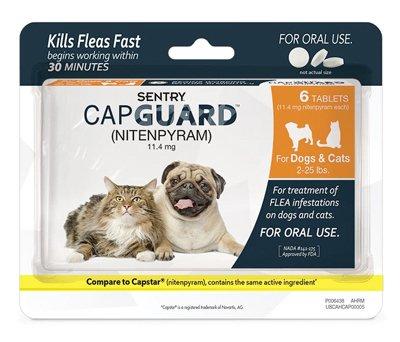 SENTRY Capguard nitenpyram Oral Flea Control Medication 225 lbs 6 count