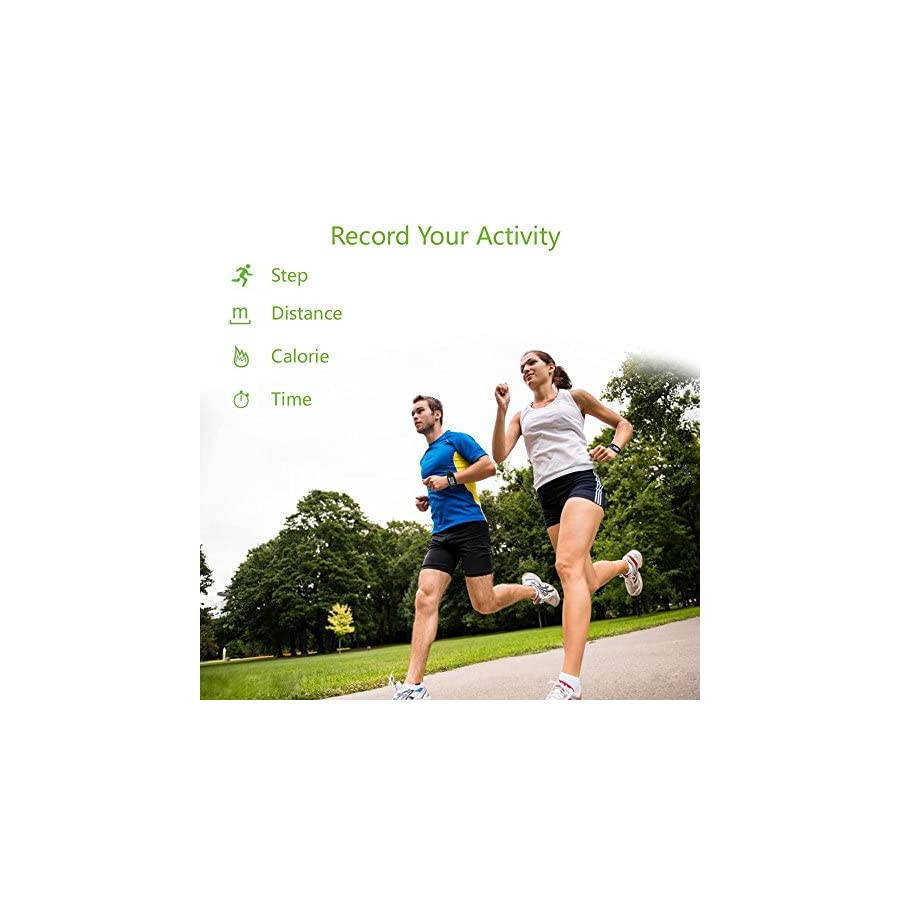 WearHome Pedometer, Multi Function Portable Pedometer Fitness Tracker for Walking Running Distance Step Counter by Bereezy