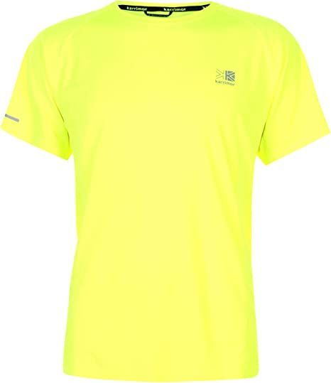 Gym Breathable Wicks Sweat // Moisture Suitable for Running Cycling Jogging Mens Hi Viz Fluorescent Yellow Running Top Reflective Hi Vis Spring Summer 2018 Running Cycling Sports Tshirt Training and all other Sports. Work Out