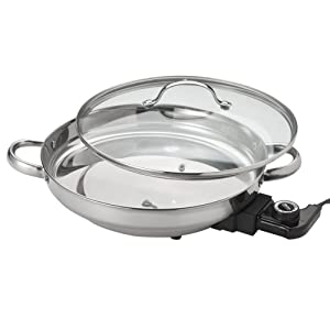 Aroma AFP-1600S Gourmet Series Stainless Steel Electric Skillet