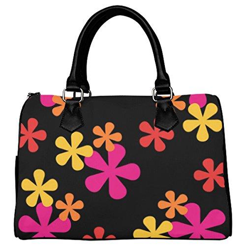 Jasonea Women Boston Handbag Top Handle Handbag Satchel Amazing Fractal Basad191940