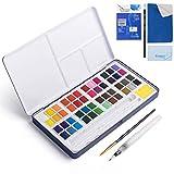 62Pcs Watercolor Paint Set, 48 Color High Pigment
