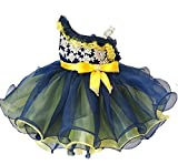 Leho Girls' Multicoloured One Shoulder Beads Cupcakes Pageant Dresses 2/2T US Navy