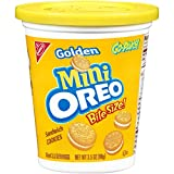 Oreo Mini Golden Sandwich Cookies - Go-Pak Cup, 3.5 Ounce (Pack of 12)