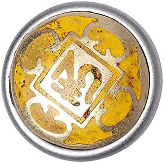 Noosa petite Chunk Mandala Meru silver yellow metal
