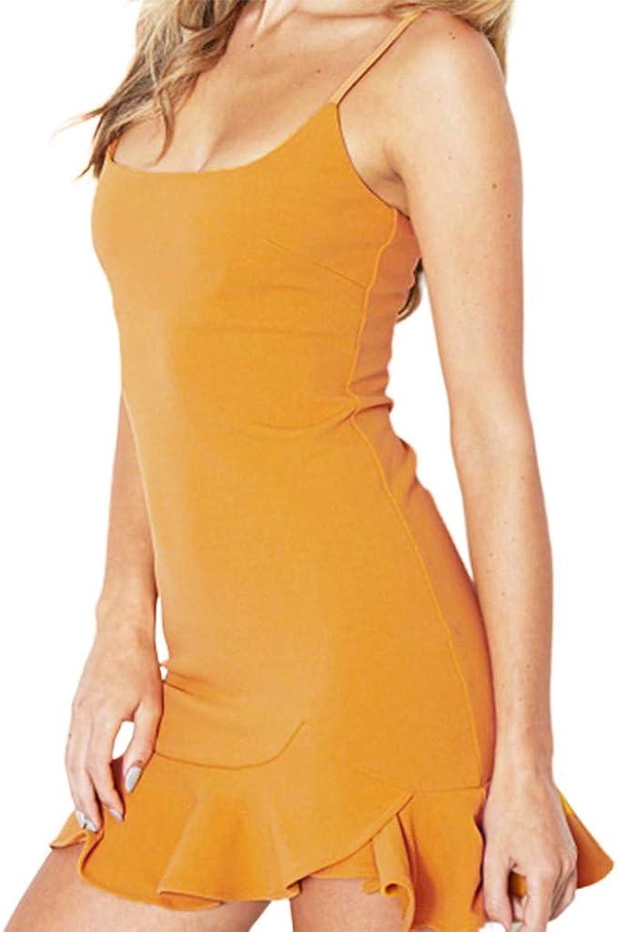 Kuty Vestido de Las Mujeres, Transpirable Drapeado Falda Corta ...