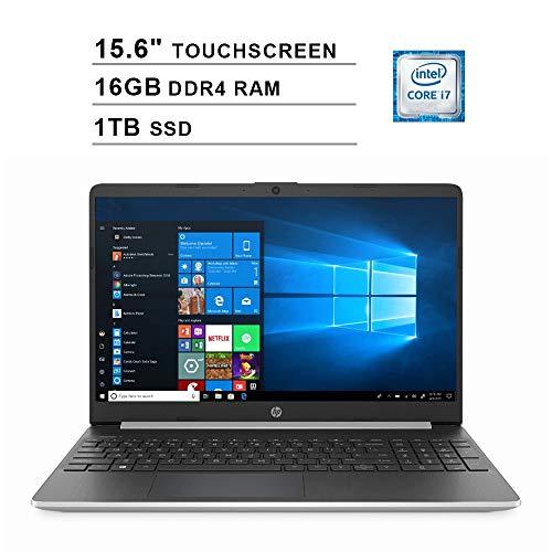 2020 HP Pavilion 15.6 Inch Touchscreen Laptop (Intel 4-Core i7-1065G7 up to 3.9GHz, 16GB DDR4 RAM, 1TB SSD, Intel Iris…