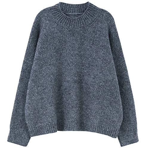 Versiones Coreanasnuevasnuevasyloosecasualweaterknitted Sweaterfemale Gray Blue Ekfhos 80H6q8
