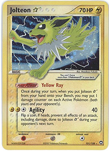 Pokemon EX Power Keepers #101 Shining Jolteon Holofoil Card [Toy]