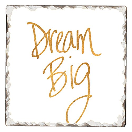 - CounterArt Single Tumbled Tile Absorbent Coaster, Dream Big