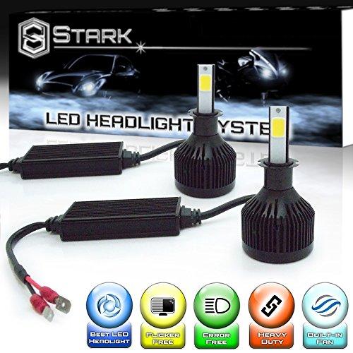 Stark 66W 6000 LM All-in-One LED Headlight Conversion Kit - Cool White 6000K 6K - Fog Light Bulbs - H3
