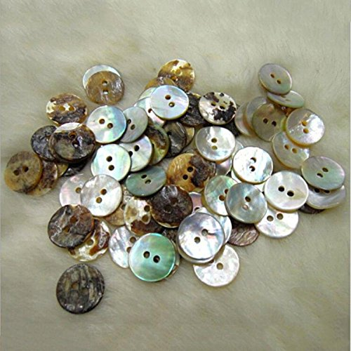 Funnytoday365 100Pcs Lot 10Mm Round Shell Sewing Buttons 2 Hole Button Natural Shell Buttons Color Japan Mother Of Pearl Mop