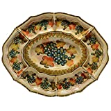 Italian Dinnerware - Oval Platter with Six Small Serving Dishes - Handmade in Italy from our Terre Di Chianti Collection
