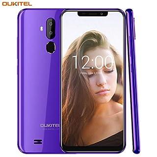 """OUKITEL C12 Unlocked Smartphone Android 8.1 Unlocked Cell Phones,6.18"""" 19:9 Full-Screen Display ,8MP+2MP Cameras, 3G Android Phones Unlocked, Dual SIM Smartphone 2GB+16GB Fingerprint & Face Unlock"""