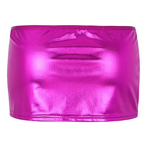 Extensible Clubwear Brillant en Serr Tiaobug Mini Nuit Courte Jupe Moulante Jupon Jupe Jupe Bal Cuir Jupe Danse pour Split de Femme Verni Rose Plaisir ztRqnrYwvq