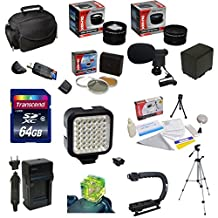 Ultimate Accessory Kit For the Canon Vixia HF G10, HF G20, HF G30, HF S20, HF S21, HF S30, HF S200 Includes 32GB High Speed Error Free SDHC Memory Card + SDHC Card Reader + 58MM 3 Piece Pro Filter Kit (UV, CPL, FLD) + BP-819 Extended Life Replacement Battery Pack + Rapid AC/DC Battery Charger + 54 Inch Professional Video Tripod + Opteka X-GRIP Action Stabilizing Handle + Ultra High Power 36 Pin LED Video Light + Directional Mini-Shotgun Microphone + Hot Shoe Three Axis Triple Bubble Spirit Level