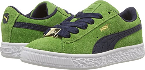 PUMA Kids Boy's Suede Classic Bboy Fabulous (Little Kid) Green Forest/Turkish Sea 3 M US Little Kid
