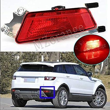 MZORANGE Left//Right Car Rear Bumper Fog Lamp with LED Bulb for Evoque 2011-2018