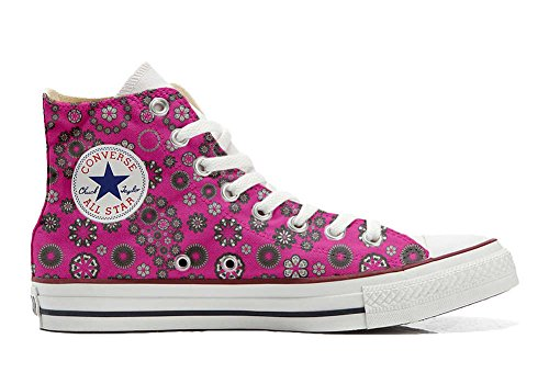 Converse All Star Customized - zapatos personalizados (Producto Artesano) Hot Pink Paysley