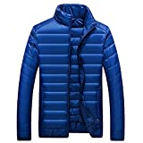 Marck Sch Fashion Winter Keep Warm Men Clothing Fashion Solid Color Man Tops Simple Coat NEW New Arrival Parkas Hot Sale Blue L