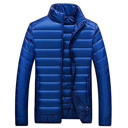 Marck Sch Fashion Winter Keep Warm Men Clothing Fashion Solid Color Man Tops Simple Coat NEW New Arrival Parkas Hot Sale Blue L by Marck Sch wool-outerwear-coats