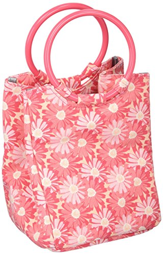 Fit & Fresh Kids' Lauren Insulated Bag, Mini-Tote for Lunch and Snacks, Pink Daisies
