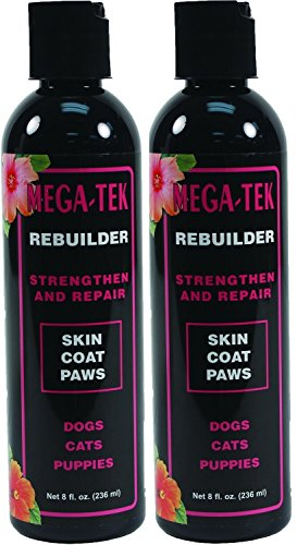 Pet Coat Rebuilder - Mega-Tek 16 oz - Repairs Damaged Coat and Paw Pads and Accelerates Hair growth on Bare Spots