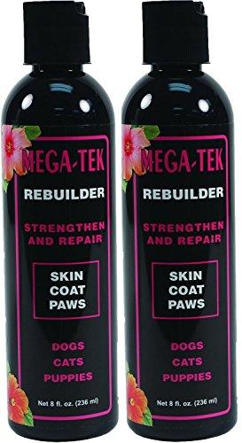 Mega Tek Hair - Pet Coat Rebuilder - Mega-Tek 16 oz - Repairs Damaged Coat and Paw Pads and Accelerates Hair growth on Bare Spots