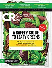 Get the latest ratings and reviews plus rigorous reporting on issues that impact consumers. You'll receive 12 issues of Consumer Reports magazine per year, including the annual Auto Issue. Stay up to date on topics with exclusive magazine art...