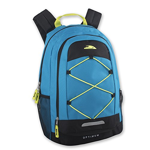Optimum Sporty Backpacks with Reflector & Bungee Cords for Mountain Climbing, Hiking, Camping, School