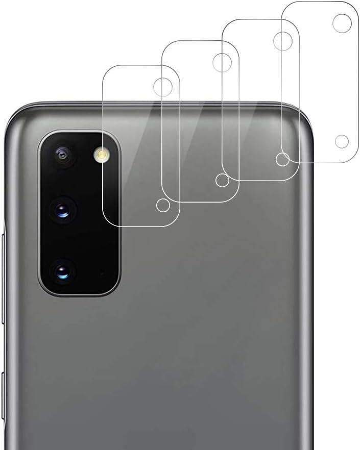 RSSYTZ 【4 piezas】Cámara Trasera Lente para Samsung Galaxy S20, Protector Cámara [Alta definición] Cristal Templado para Samsung S20