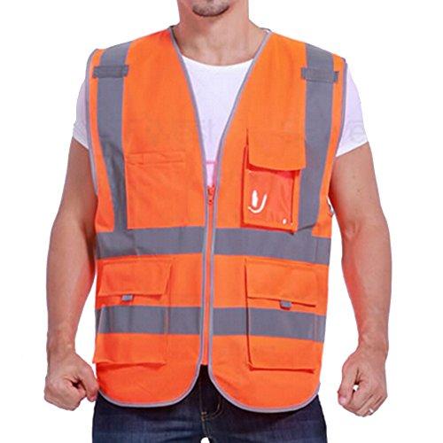 GOGO SECURITY 8 Pockets Hi Vis Safety Vest-Blue-L by GOGO (Image #7)