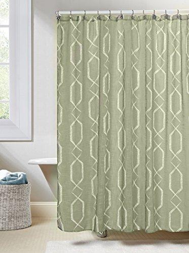 sage green shower curtain - 1
