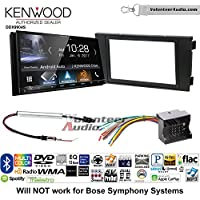 Volunteer Audio Kenwood DDX9904S Double Din Radio Install Kit with Apple CarPlay Android Auto Bluetooth Fits 1999-2006 Audi A6