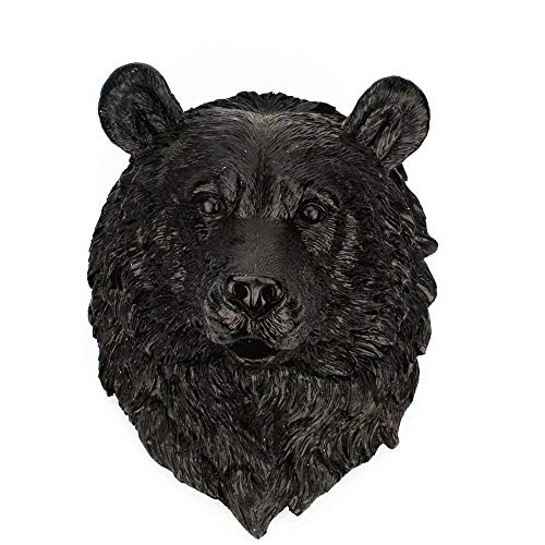 Aolvo Faux Taxidermy, Bear Head Wall Mount from Eco-Friendly Resin Animal Wall Mount Fake Bear Head Mounted Statue Art for Room Bedroom Office Decor, Particularly Suitable for Gifts, ()