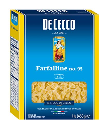 De Cecco Semolina Pasta, Farfalline No.95, 1 Pound (Pack of 5) (Pasta Dried)