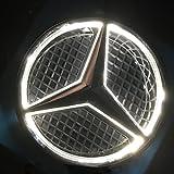 LIGHTUPRO Car Front Grille Star Emblem LED LOGO for MERCEDES BENZ Original BADGE light Front EMBLEM LAMP Illuminated Badge 12V (WHITE)
