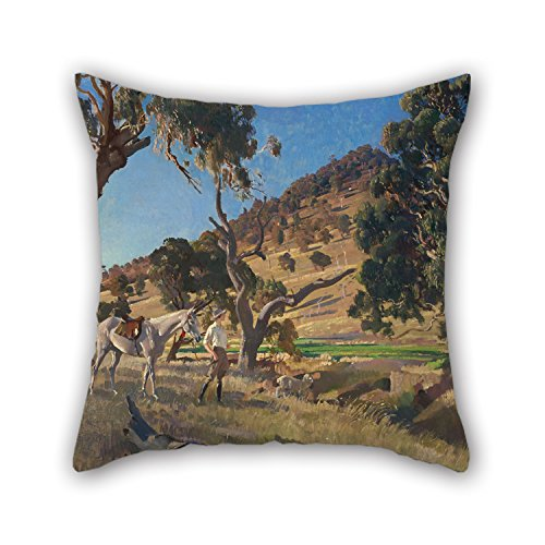 Oil Painting George W. Lambert - The Squatter's Daughter Pillowcase Best For Sofa Play Room Coffee House Lounge Seat Chair 16 X 16 Inches / 40 By 40 Cm(twin (Squatter Moose)