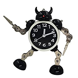 Gigibon Alarm Clock Robot, Kids Gift Cute&Fun, to Move/Twist Legs & Arms for Many Poses, Gift to Children