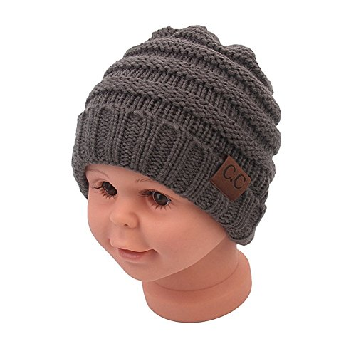 Sechunk Baby Boy Winter Warm Hat, Infant Toddler Kids Beanie Knit Cap for Girls and Boys [0-5years] (Dark ()