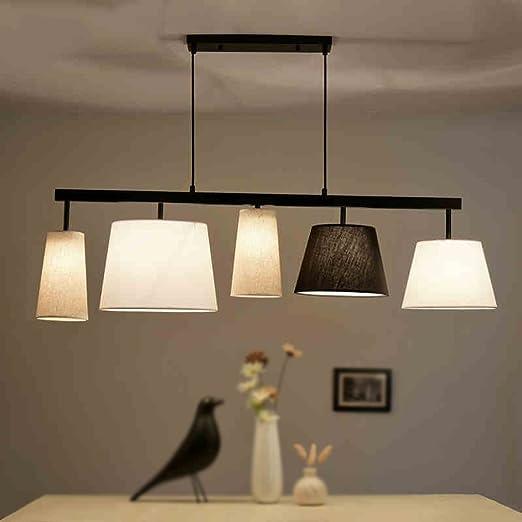 Ristorante illuminazione americana rurale Moderno Tessuto semplice ...