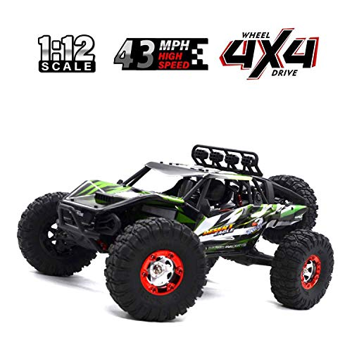 Keliwow Electric RC Buggy 1/12 4WD RC Car,2.4Ghz Radio Remote Control Off Road Truck 70KMH Monster High Speed Rc Rock Crawler Truck RTR All Terrain Car Brushless Desert Rc Car - Rc Buggy Car