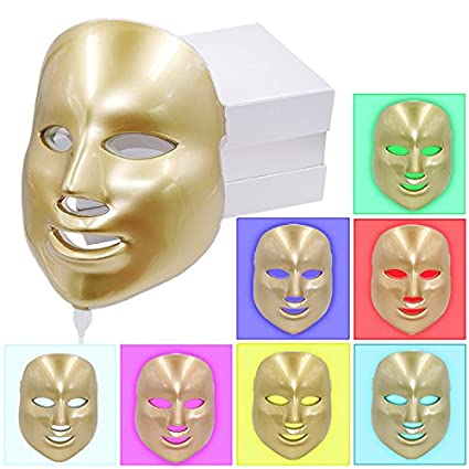 Electric Led Mask 7 Colors Light Pdt Photon Face Skin Care Skin Rejuvenation Anti Acne Wrinkle Removal Therapy Beauty Salon Massage & Relaxation